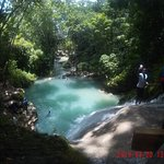 """Chuck Norris waterfall better known as """"Blue Hole"""""""