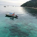 Clear waters in Salang Bay