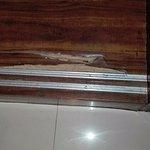 Broken wardrob floor board