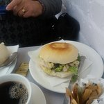 Large Coronation chicken stottie from cafe