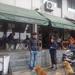 Road side view of Cafe