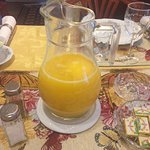 Orange Juice is served at every breakfast.