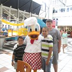 With Donald Duck