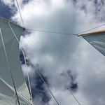Sails up.