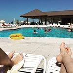 Beach club area/pool