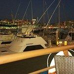 Marina view at dusk