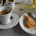 expresso with baklava