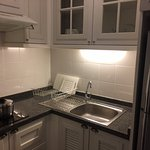 Small and handy attached kitchen,