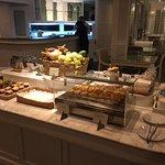 Lounge serving food.