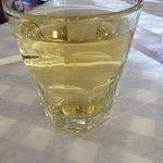 The glass of retsina.