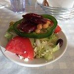 The salad.