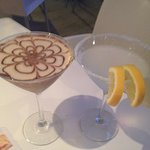 Espresso and Lemon Drop martinis