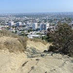 on top of The Runyon Canyon trail,CA