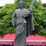 Marbella - Casco Antiguo - statue of Saint Bernard   (patron saint of Marbella)