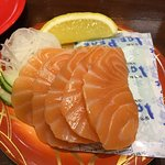 fresh salmon sashimi , one plate is never enough ! the bad part is there's seldom have creditcar
