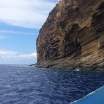 The back of Molokini, where our raft dropped us for snorkeling.