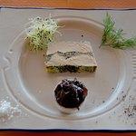 notre création :foie gras aux huîtres et aux algues