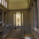 Grand Staircase at the Philadelphia Museum of Art with Saint-Gaudens' Diana and Calder mobile