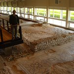 It's a shame that the mosaics were damaged by the workmen who discovered this huge villa!