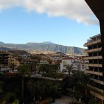 Spain's highest mountain Teide, visible from the balcony when it's not cloudy