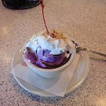Purple Cow sundae