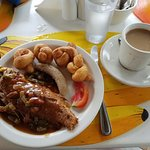 Jamaican Breakfast/Brunch Escovitch Fish, Bammy and Sausage