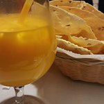 Papdam and Mango lassi  (I added ice)