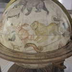 History is brought to life in the maritime museum with objects such as this ancient globe