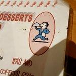 Filthy dessert menu