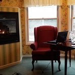 My husband and I enjoyed the cozy gas fireplace by the windows looking down on St Croix Trail
