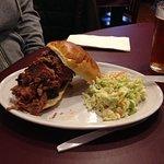 Brisket sandwich with cole slaw