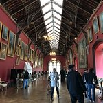 long room with art collection