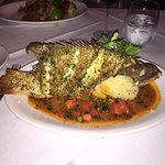 Broiled whole hogfish, a lot of yummy fresh fish