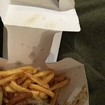 Gross fries were stale half eaten onion ring and the food was all over and opened box