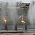 Water & fire show at Branson Landing