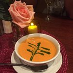 Red bell pepper soup was a favorite