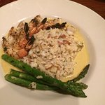 My grilled prawns and rice.  So good.