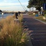 Riverwalk behind the Straz