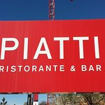 The sign out front of Piatti in Chrry Creek