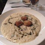 Risotto and scallops