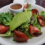 Another 1/2 portion split for us with our steak entree. Tomato Avocado salad! Delish:-)