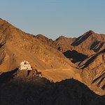 Namgyal Tsemo Monastery view from Shanti Stupa.