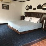 King size bed in Baan Nattawadee's largest room