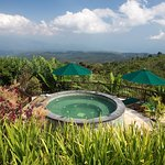 View over Bali hills and jacuzzi