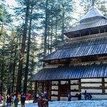 Hidimba Temple with snow around