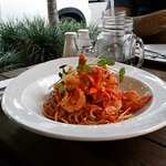 chili prawns and pasta