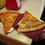 A good size for a pizza slice. Get two each!