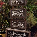 Specials of the day at LaVier Cuisine in San Rafael.