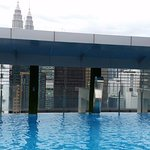 From rooftop pool