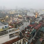 view of Old Quarter from rooftop of Tirant Hotel, Hanoi, Vietnam